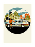 Campagnolo Team Car, 2013 Giclee Print by Eliza Southwood