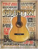 Country - Made in America Plaque en métal