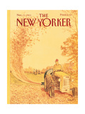 The New Yorker Cover - November 11, 1985 Premium Giclee Print by Charles Saxon