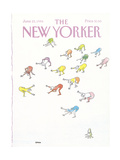 The New Yorker Cover - June 23, 1986 Premium Giclee Print by George Booth