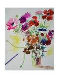 Ranunculus and Anemones, 2010 Giclee Print by Simon Fletcher