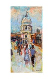 St Paul's from the Millennium Bridge Giclee Print by Sylvia Paul