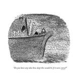 """""""Do you have any idea how deep this would be if it were snow?"""" - New Yorker Cartoon Premium Giclee Print by John Jonik"""