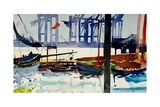 Hamburg, Container Port, 2009 Giclee Print by Simon Fletcher