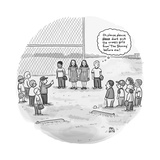 "A little boy waiting to be picked for a baseball team thinks, ""Please don'… - New Yorker Cartoon Premium Giclee Print by Paul Noth"