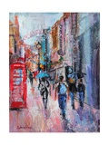 Rainy Day, Carnaby Street Giclee Print by Sylvia Paul