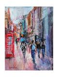 Rainy Day, Carnaby Street Lámina giclée por Sylvia Paul
