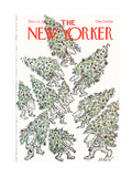 The New Yorker Cover - December 12, 1977 Premium Giclee Print by Edward Koren