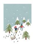 Sledging, 2014 Giclee Print by Isobel Barber