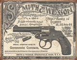 S&W 1892 Contracts Tin Sign
