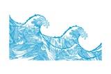 Kanagawa Wave, 2009 Giclee Print by Sarah Hough