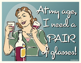 Pair of Glasses Tin Sign