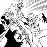 Ultimate SpiderMan - Fall 2013 Panel Line Art Prints