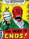 Marvel Comics Red Skull - Panel Art Poster