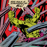 Marvel Comics Hulk - Panel Art Posters