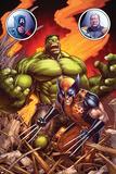A+X No. 1: Wolverine, Hulk Poster
