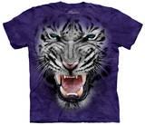 Raging Big Face White Tiger T-shirts