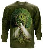 Long Sleeve: Ying Yang Tree T-skjorte