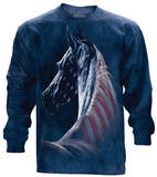 Long Sleeve: Patriotic Horse Head Shirt