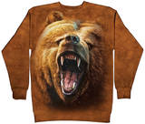 Crewneck Sweatshirt: Grizzly Growl Tričko