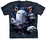Patriotic Moon Eagle Eye T-shirts