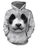 Hoodie: Big Face Panda Pullover Hoodie