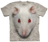 Youth: Big Face White Rat Shirts