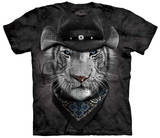 Cowboy White Tiger T-shirts