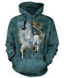 Hoodie: Wolf Spirit Shield Pullover Hoodie