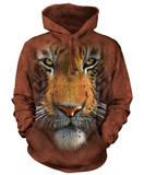 Hoodie: Tiger Face Pullover Hoodie