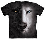 Youth: B&W Wolf Face Shirts