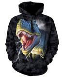 Hoodie: Lightning Rex Pullover Hoodie