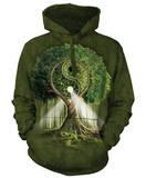 Hoodie: Ying Yang Tree Mikina s kapucí