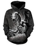 Hoodie: Black Dragon Pullover Hoodie