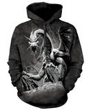 Hoodie: Black Dragon Pullover con cappuccio