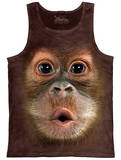 Tank Top: Big Face Baby Orangutan Tank Top
