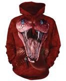 Hoodie: Red Mamba - Kapüşonlu Sweatshirt