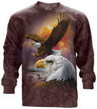 Long Sleeve: Eagle & Clouds - T shirt