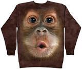 Crewneck Sweatshirt: Big Face Baby Orangutan T-Shirt