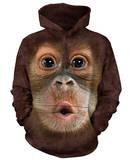 Hoodie: Baby Orangutan Pullover Hoodie