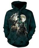 Hoodie: Three Wolf Moon Pullover Hoodie