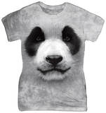Juniors: Big Face Panda T-Shirt