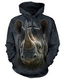 Hoodie: Black Rhino Pullover Hoodie