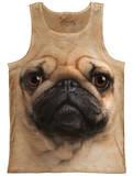 Tank Top: Pug Face Tank Top
