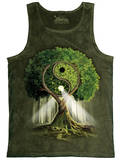 Tank Top: Yin Yang Tree - Kalın Askılı Atlet