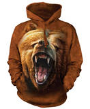 Hoodie: Grizzly Growl Pullover con cappuccio
