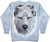 Crewneck Sweatshirt: White Wolf DJ T-Shirt