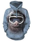 Hoodie: Powder Pig Pullover Hoodie