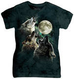Juniors: Three Wolf Moon T-Shirt