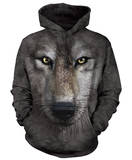 Hoodie: Wolf Face Sudadera con capucha